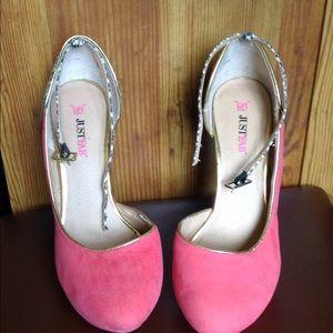 Just Fab Pink Heels
